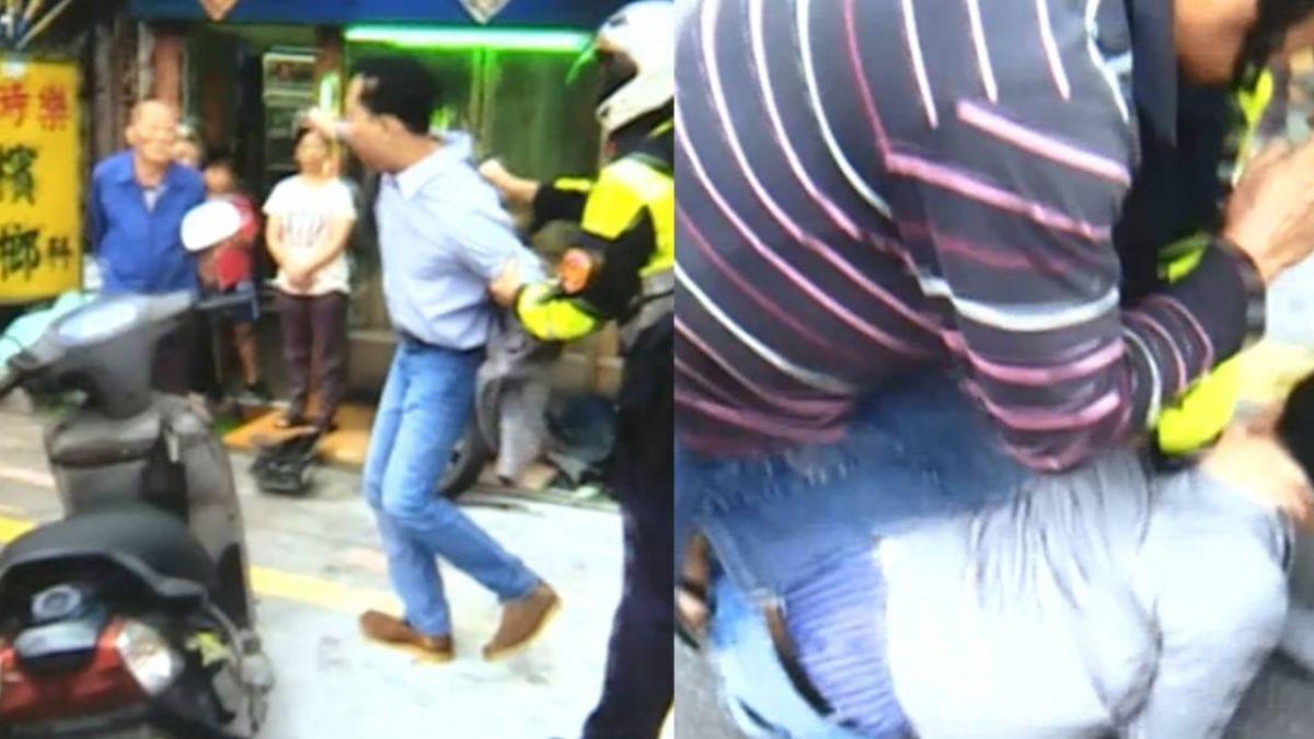 【獨家】開車恍神撞民宅  送醫跳救護車 遭警「大外割」壓制