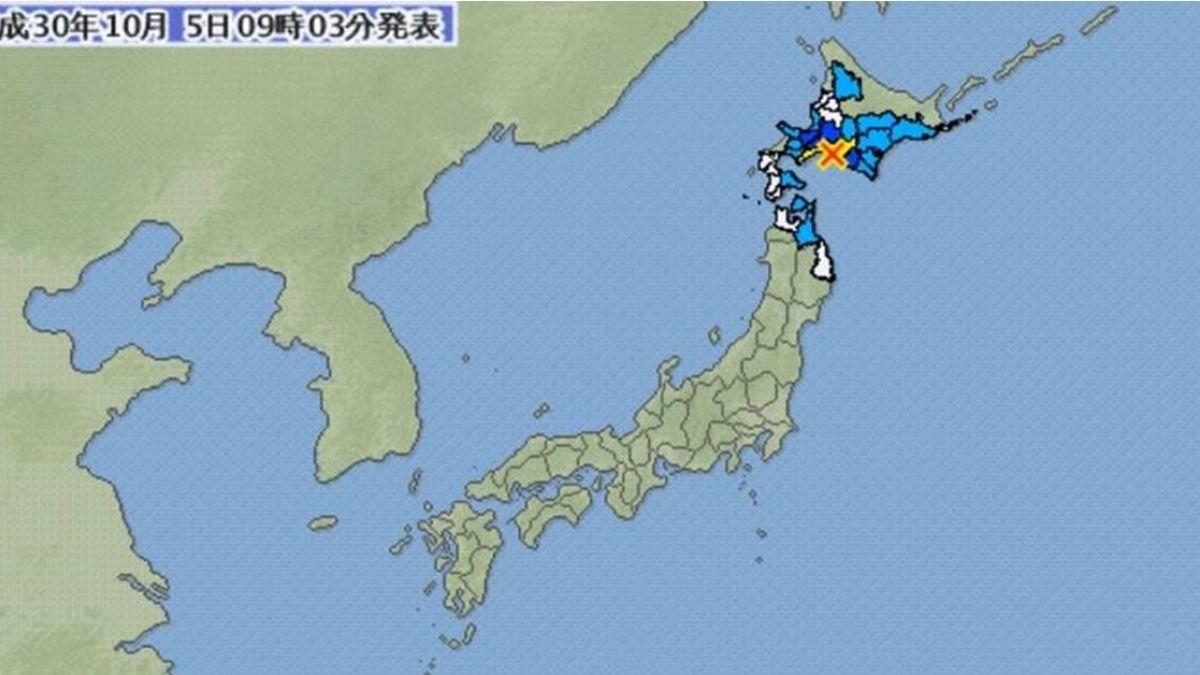 北海道發生規模5.3地震 無海嘯威脅