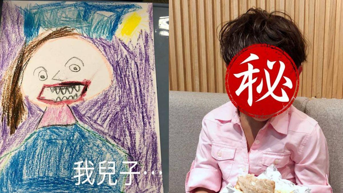 小一兒手繪媽媽畫像!她腦充血恨「不是親生的」 網卻擺錯亮點