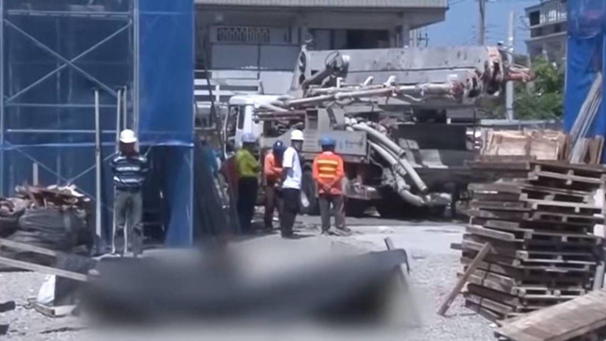 【影片】校舍改建工安意外 1女工遭混凝土車輾斃