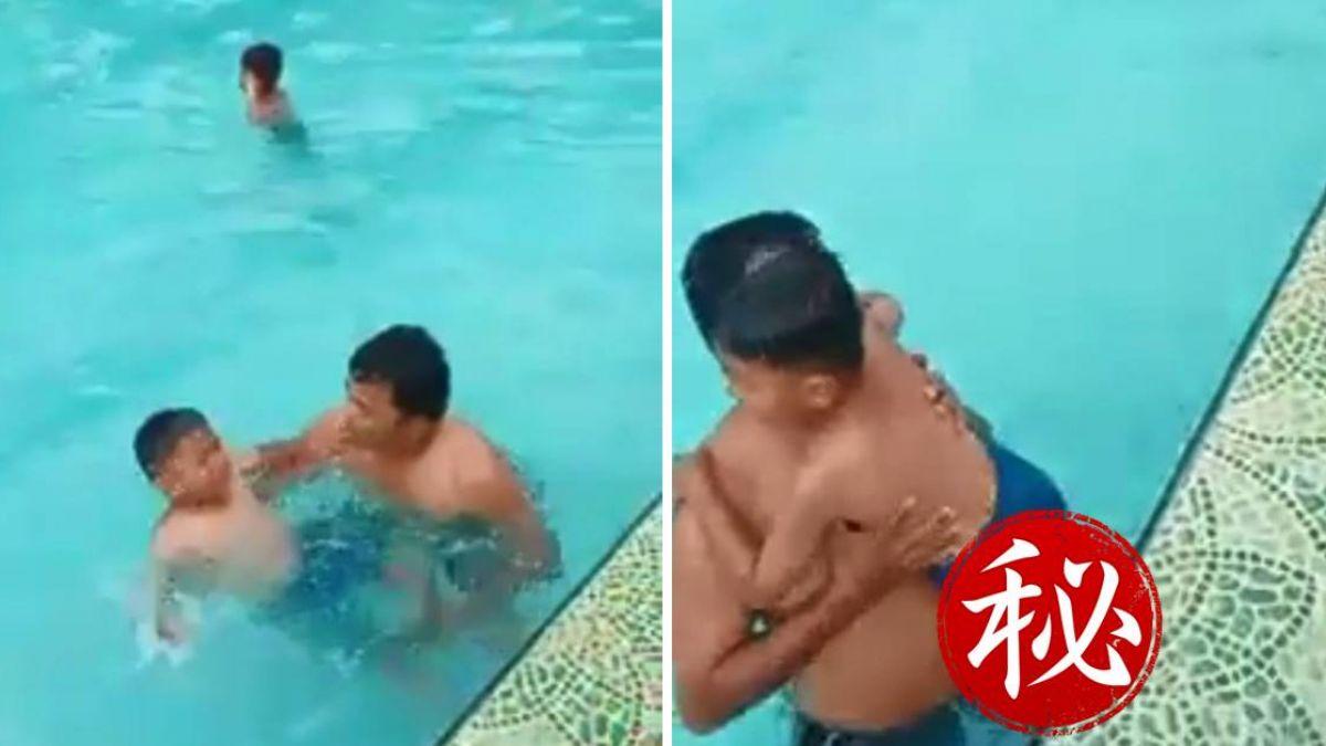 【影片】泳池抓交替?男童溺水遭「鬼手」強拉 恐怖畫面曝光