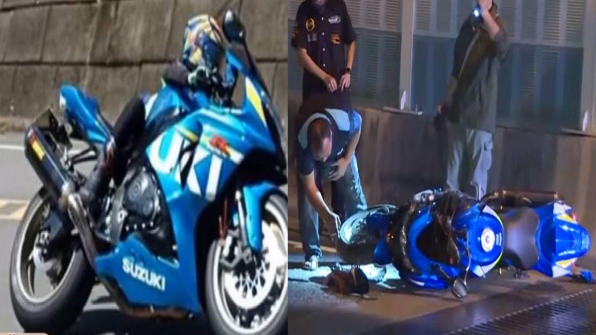 【影片】夜騎重機飆速…疑過彎自摔噴飛!美魔嬤命危 友爆哭:怎麼辦