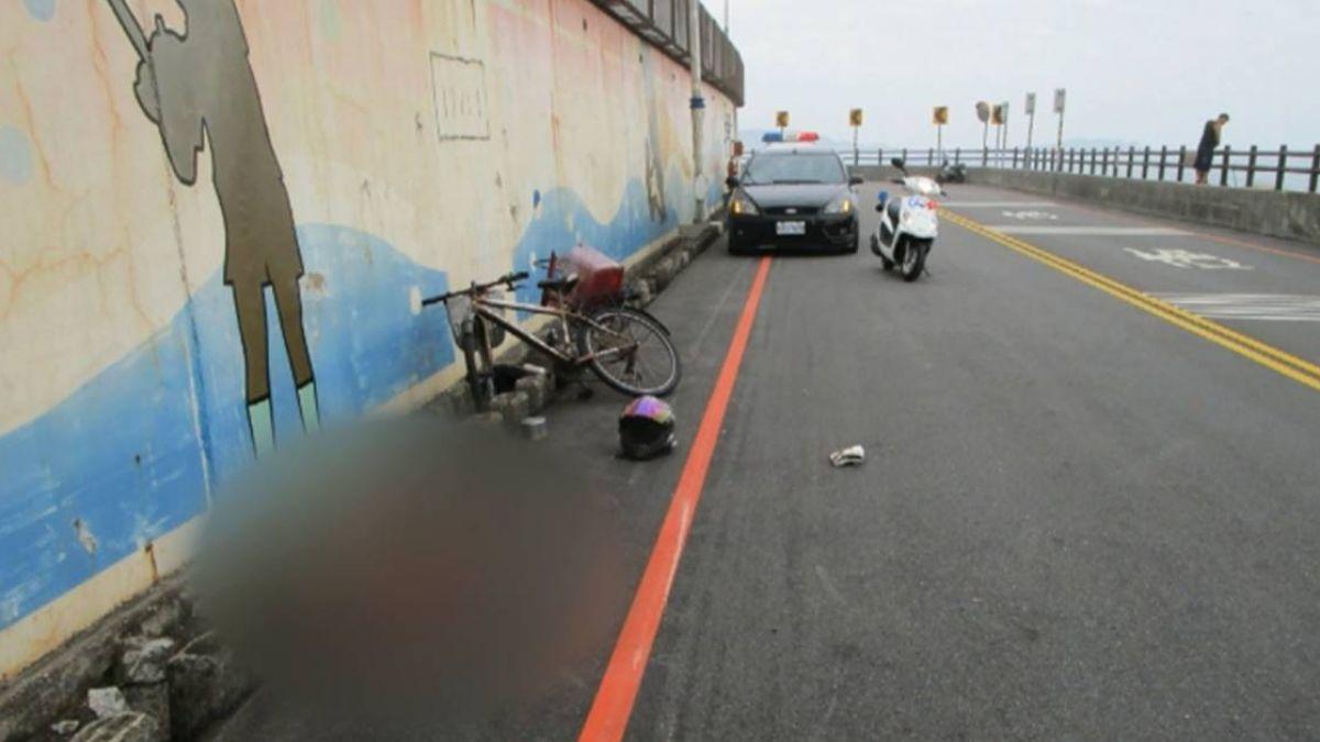 飆速過彎!上班族撞飛單車男 頭撞石塊濺血亡