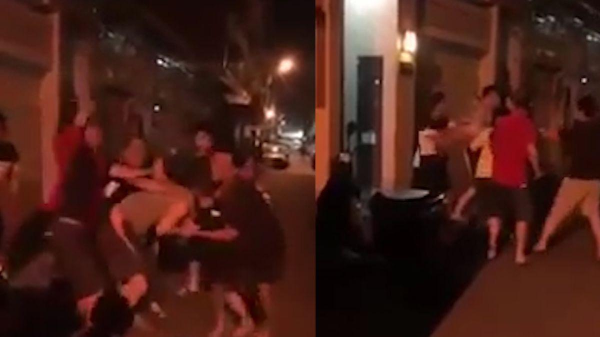 【影片】灰衣男檢舉違停被抓包 遭5男痛毆 網友斥:違法就繳錢啊
