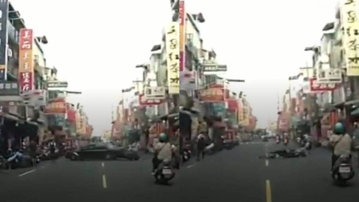 【影】超離奇?轎車「穿越時空撞騎士」突消失 車禍真相曝光!