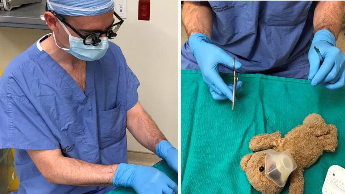 為圓8歲病童心願…醫生幫「泰迪熊」動手術!暖心畫面被讚爆