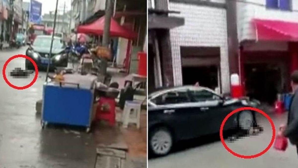 【驚悚片】妻遭狠夫開車來回輾壓慘死 路人圍觀不救援