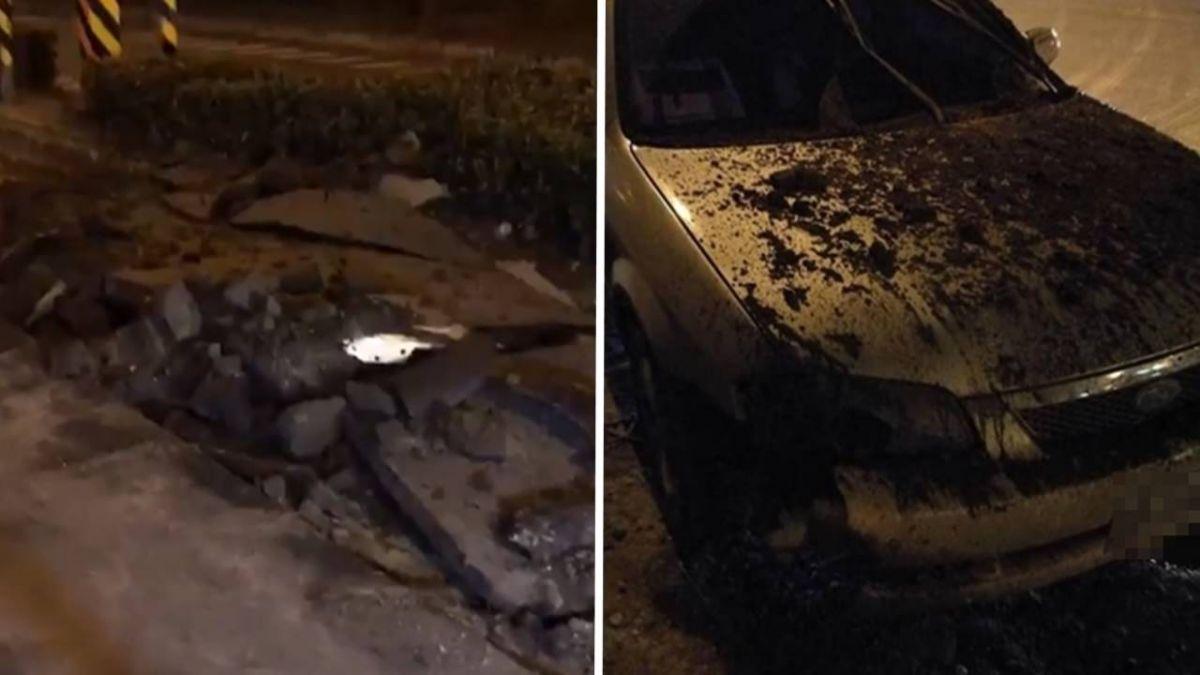 馬路被炸碎!高雄公路氣爆毀5車 包商:全額理賠