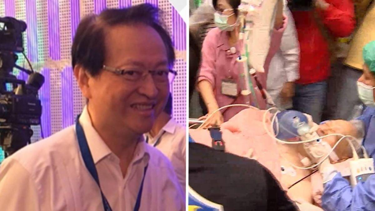 26支強心針加葉克膜 前大使恢復意識轉台大治療