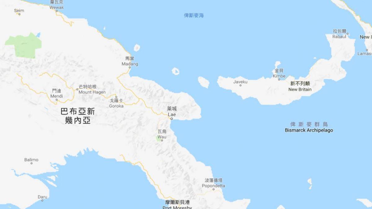 USGS:巴布亞紐幾內亞傳規模7地震