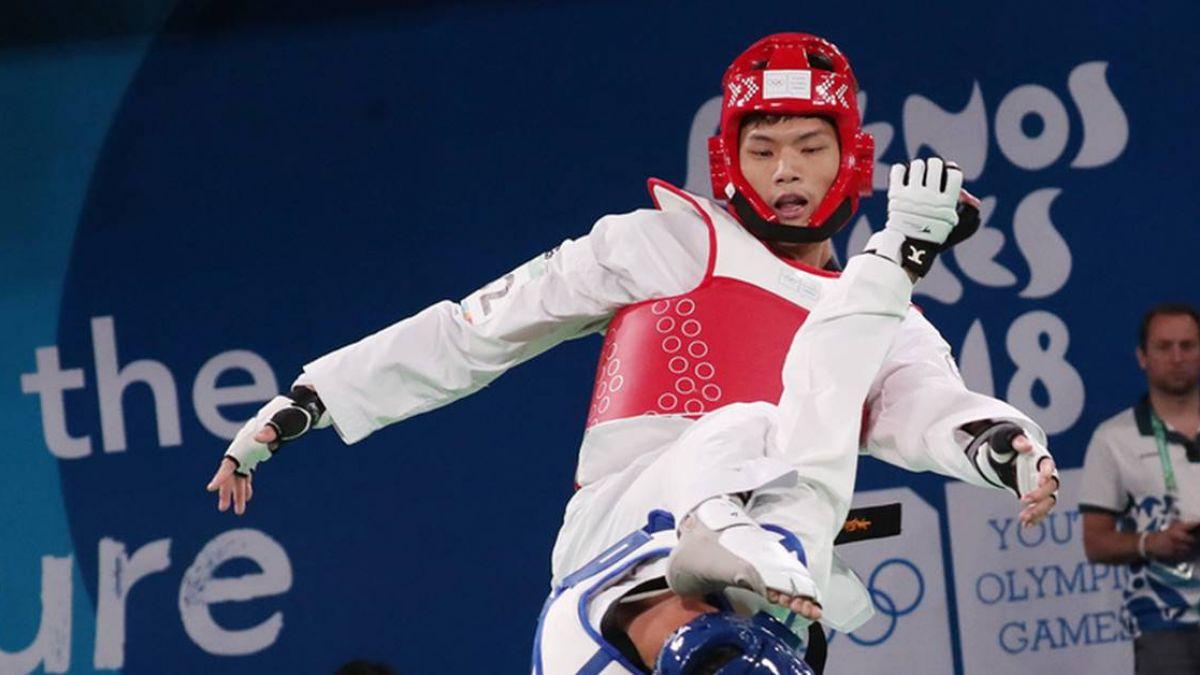 青奧男子跆拳道李孟恩搶勝 與伊朗爭金牌