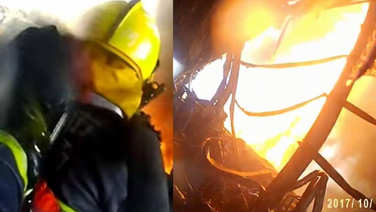 【影】「如果爆炸再近一點…」消防員與死神同行 救火視角驚悚曝光
