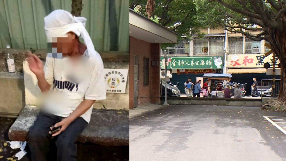【影片】藝文中心後門醉漢鬧事 互毆丟酒瓶撞傷頭