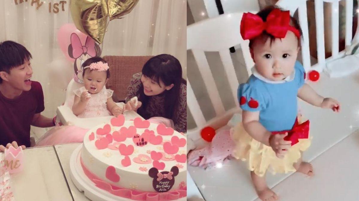 【影片】1歲小小愛變身公主萌炸!江宏傑獻唱生日歌 卻險惹哭女兒
