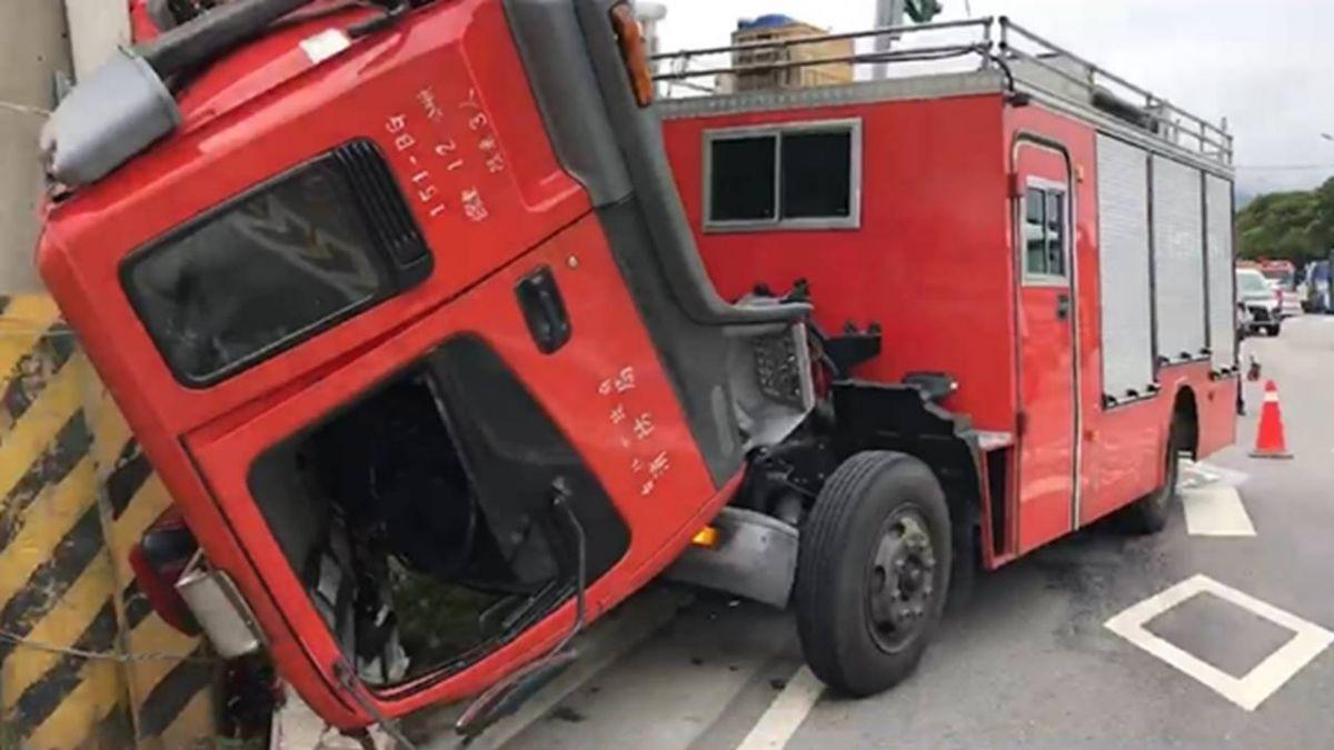 【影】消防車送檢完「離奇斷頭」!小隊長撞破玻璃拋飛 慘被輾斃