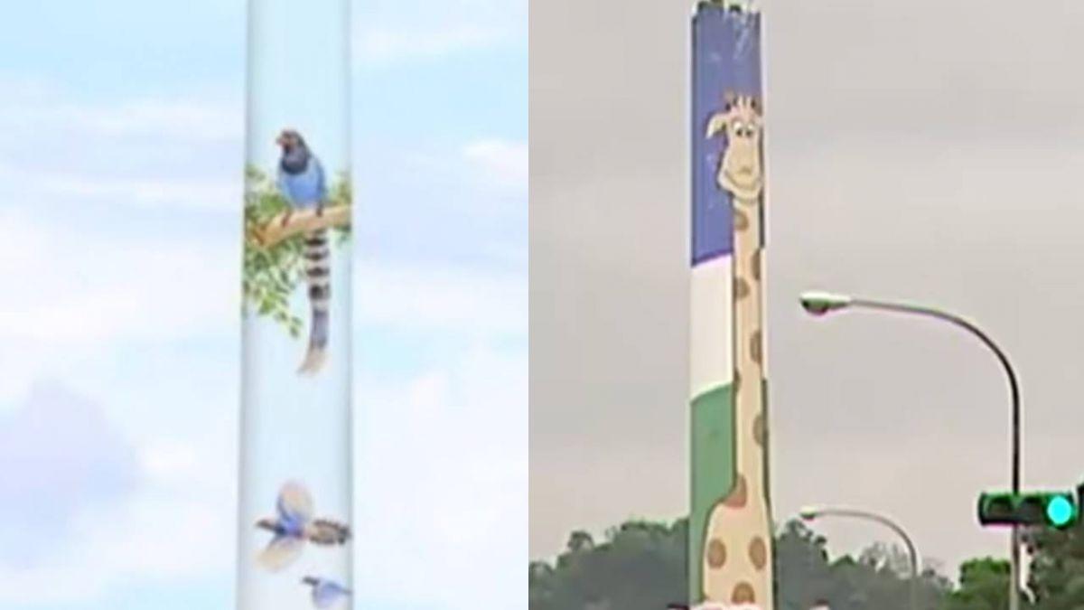 長頸鹿或台灣藍鵲? 木柵焚化廠煙囪開放票選
