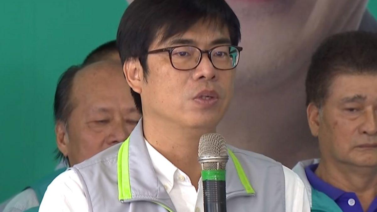 岡山選戰中心揭牌 陳其邁母雞帶小雞拚五席全上